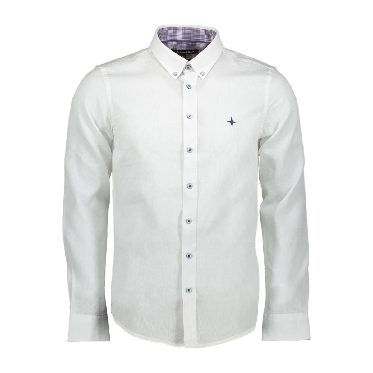 01 shirt doby cotton mc12 0106 haze & finn overhemd white structure
