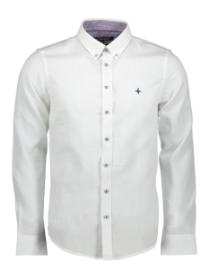 Haze & Finn Overhemd 01 SHIRT DOBY COTTON MC12 0106 WHITE STRUCTURE