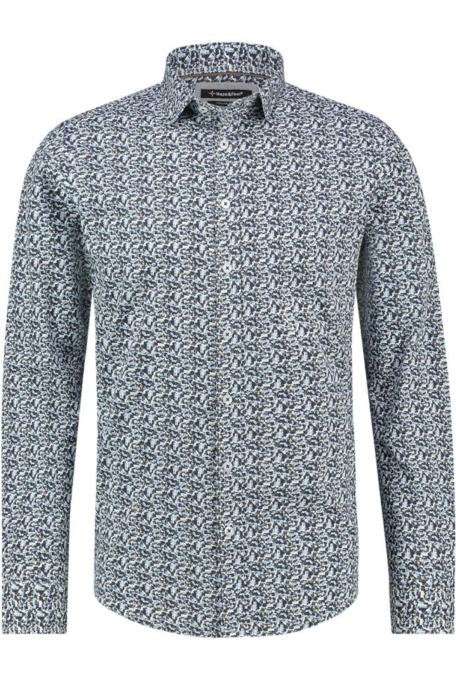 shirt aop stretch mc12 0100 25 haze & finn overhemd camo