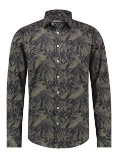 Haze & Finn Overhemd SHIRT AOP STRETCH MC12 0100 22 AUTUMN JUNGLE