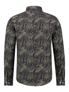shirt aop stretch mc12 0100 22 haze & finn overhemd autumn jungle