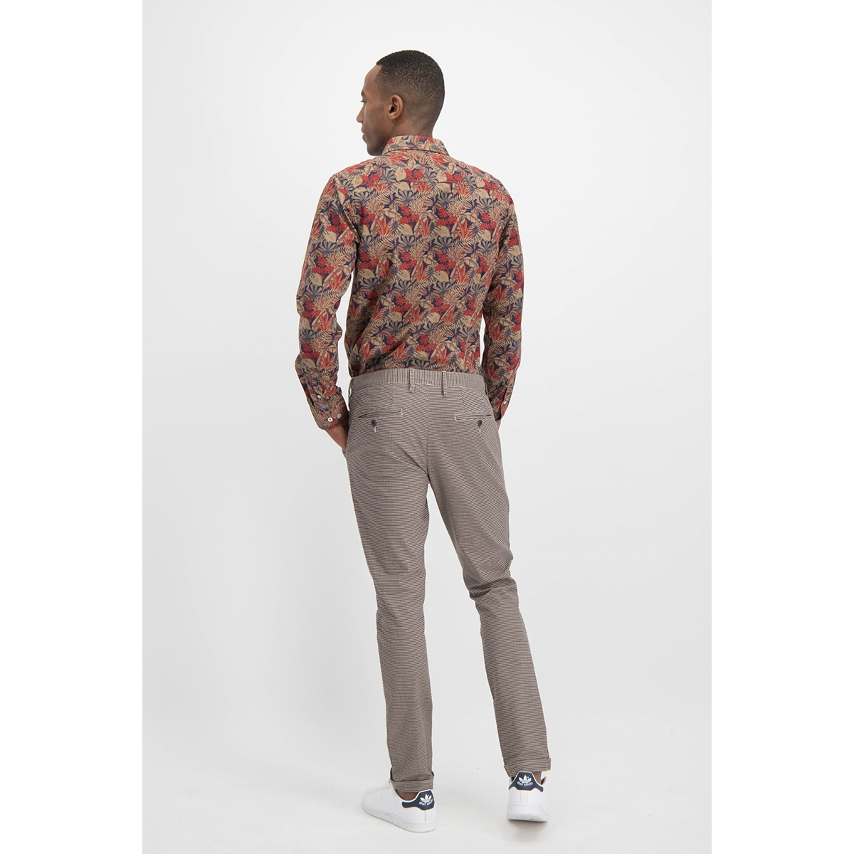 shirt aop stretch mc12 0100 32 haze & finn overhemd army jungle