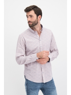 mc12 0101 01 shirt aop stretch haze & finn overhemd winter garden
