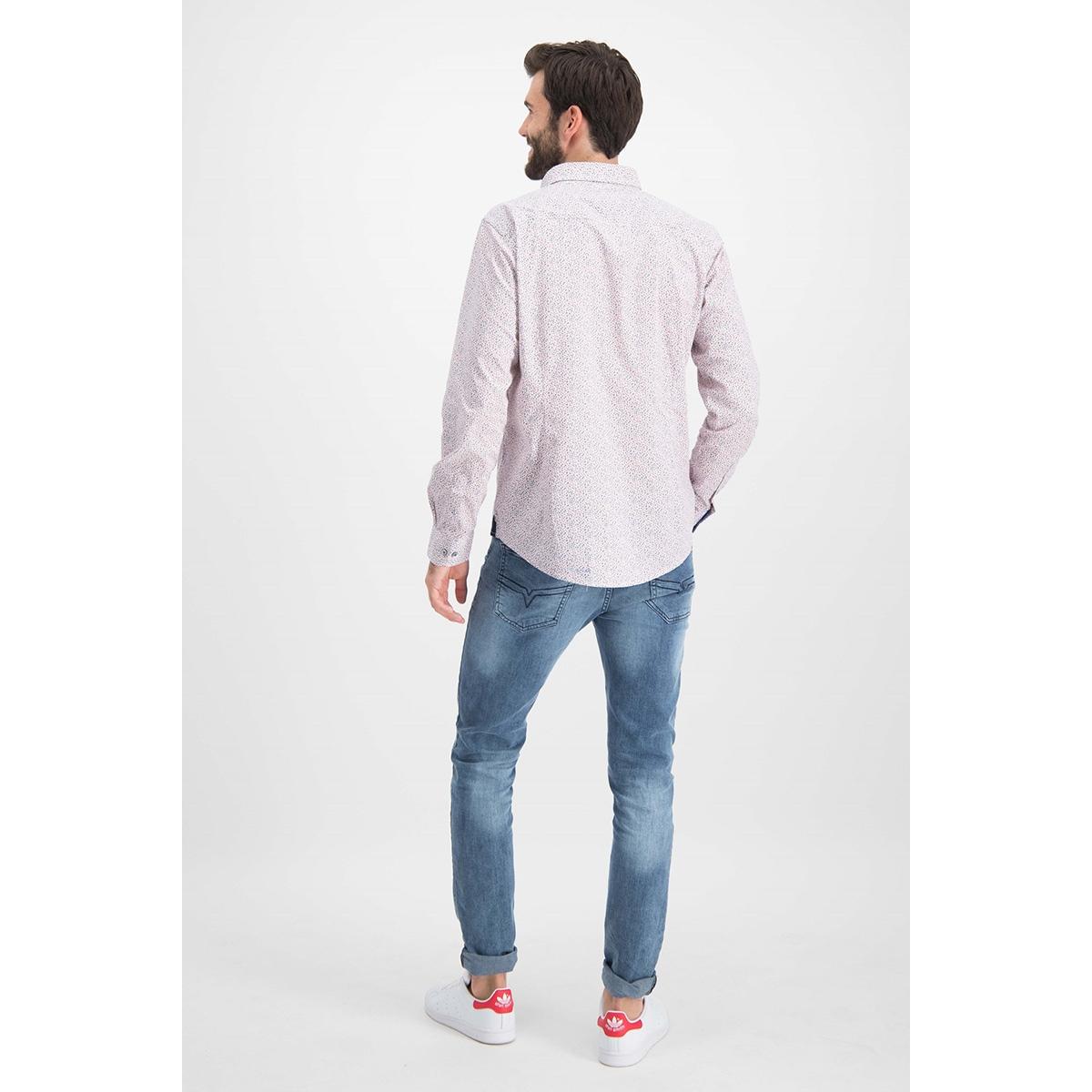 mc12 0101 01 shirt aop stretch haze & finn overhemd winter garden