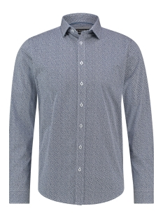 Haze & Finn Overhemd SHIRT AOP STRETCH MC12 0100 36 ACE OF SPADES