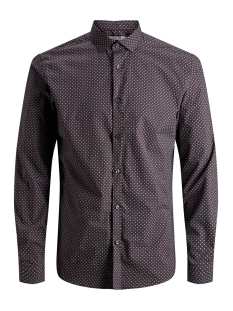 Jack & Jones Overhemd JPRBLACKPOOL SHIRT L/S AU19 STS 12158434 Dark Purple/SLIM FIT
