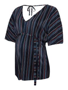 Mama-Licious Positie shirt MLWANJA 2/4 PLISSE JERSEY TOP 20010070 Salute/MULTICOLOR