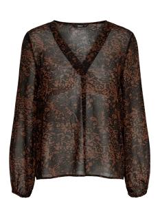 onlstar 4.0 l/s v-neck chiffon top 15187696 only blouse chocolate fonda/star leo