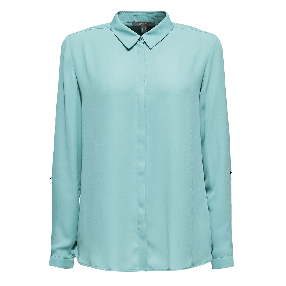 crepeblouse met blinde knoopsluiting 089eo1f008 esprit collection blouse e335