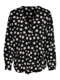 jdyoda l/s v-neck blouse wvn 15193979 jacqueline de yong blouse black/ditsy flower