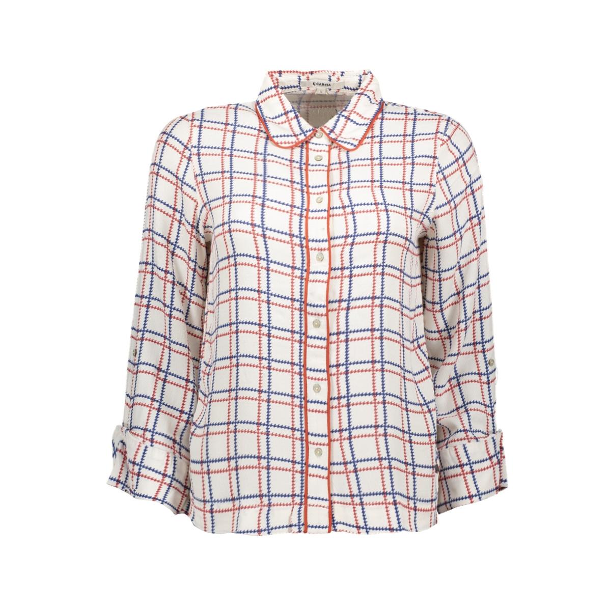 geruite blouse h90232 garcia blouse 53 off white