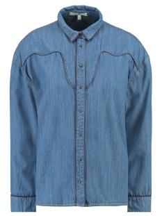denim blouse h90233 garcia blouse 1495 denim blue