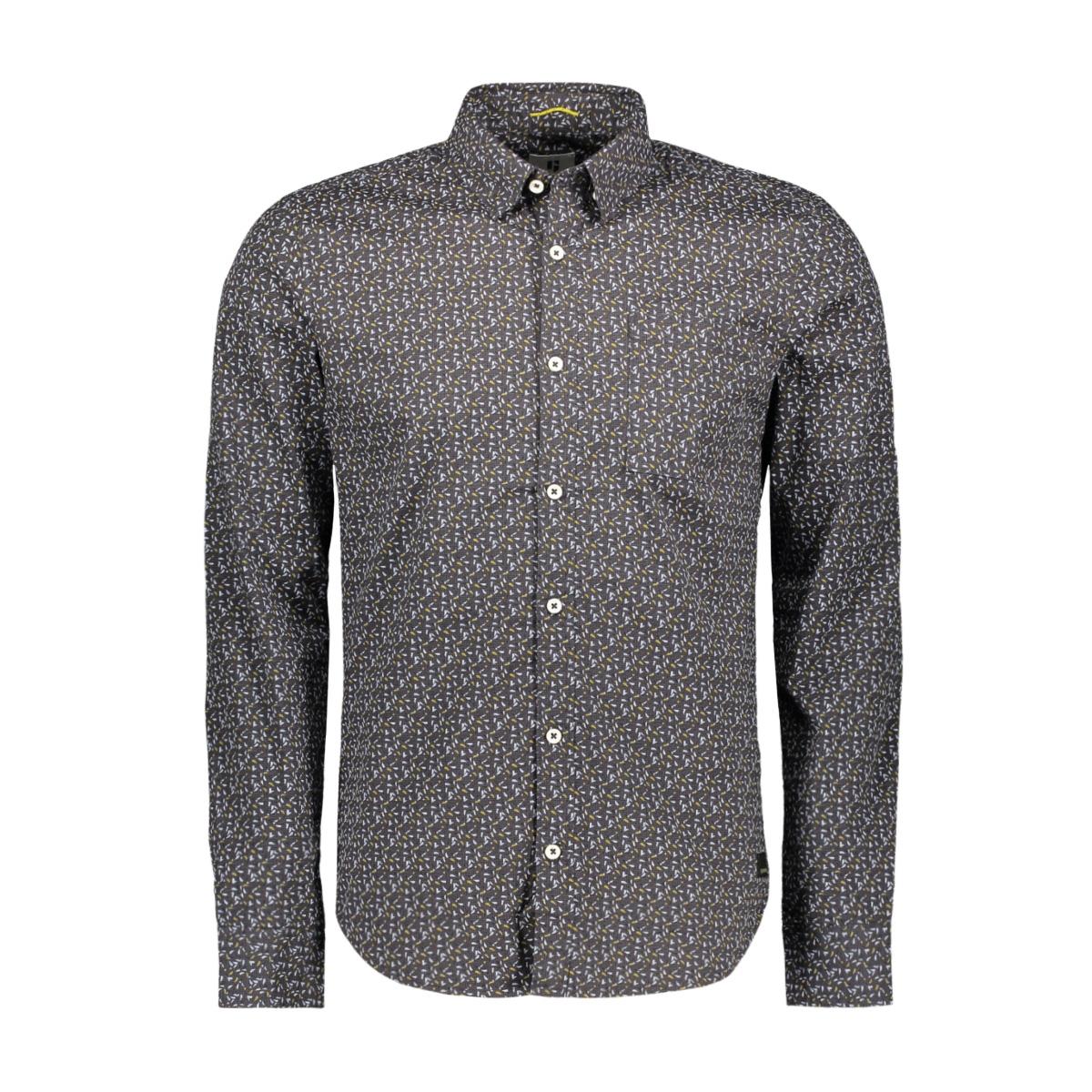 overhemd met allover print h91226 garcia overhemd 3295 slate