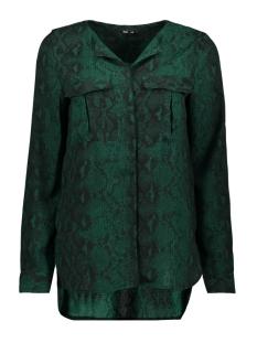 onlkaty  l/s shirt wvn 15186242 only blouse forest brown/snake