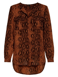 Only Blouse ONLKATY  L/S SHIRT WVN 15186242 Ginger Bread/SNAKE