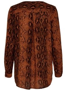 onlkaty  l/s shirt wvn 15186242 only blouse ginger bread/snake