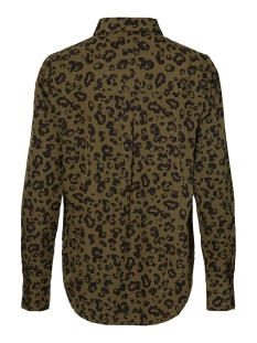 vmnicky l/s  shirt color/aop 10212969 vero moda blouse ivy green/annie