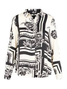 vmmimi ls shirt wvn 10219582 vero moda blouse birch/mimi aop