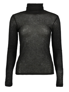 Pieces T-shirt PCHENNIE LS ROLLNECK TOP 17098673 Black