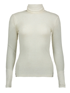 Pieces T-shirt PCHENNIE LS ROLLNECK TOP 17098673 White Pepper