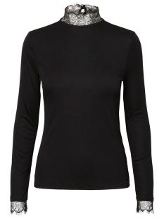 Pieces T-shirt PCERICA LS LACE TOP 17097200 Black