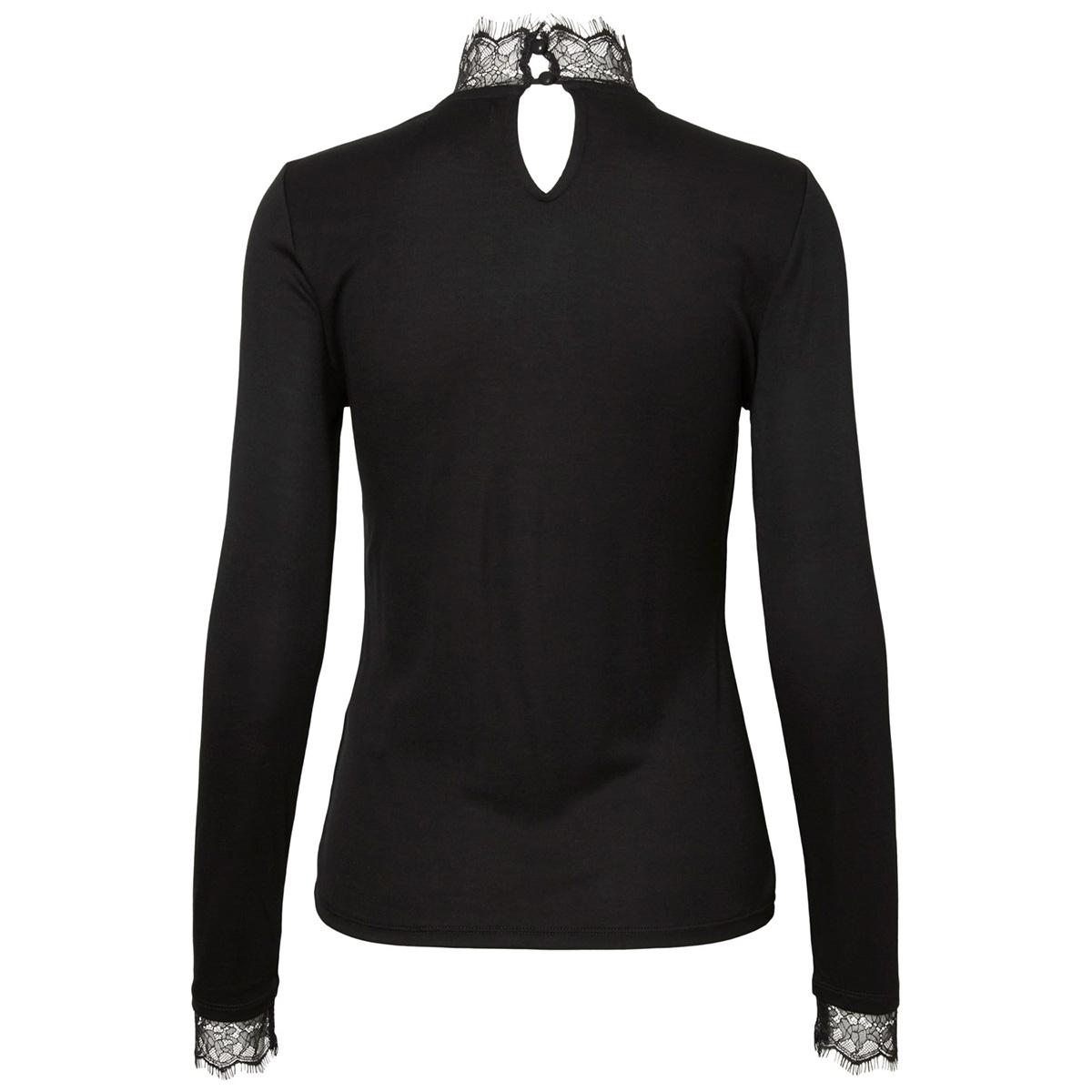 pcerica ls lace top 17097200 pieces t-shirt black
