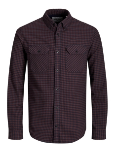 Jack & Jones Overhemd JCORUSSEL SHIRT LS WORKER 12157792 Fudge/SLIM
