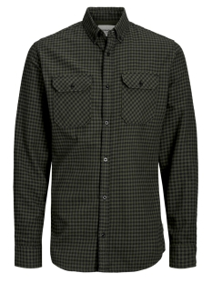jcorussel shirt ls worker 12157792 jack & jones overhemd forest night