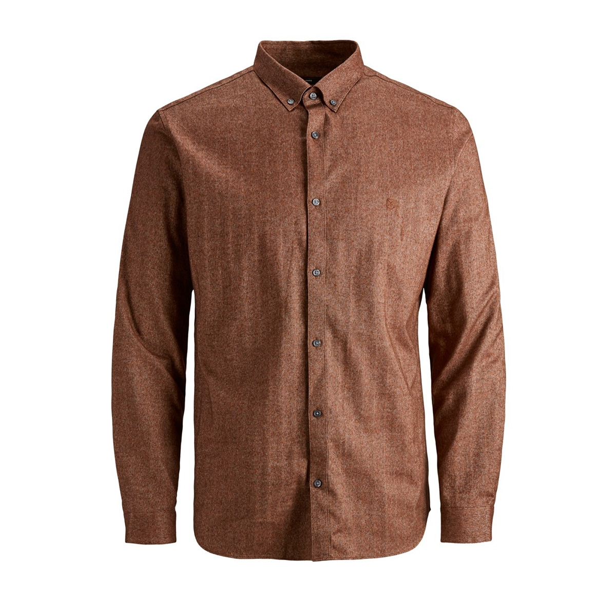 jprlogo twist shirt l/s sts 12158301 jack & jones overhemd umber/slim fit