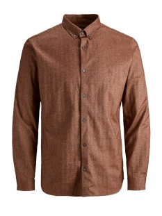 Jack & Jones Overhemd JPRLOGO TWIST SHIRT L/S STS 12158301 Umber/SLIM FIT