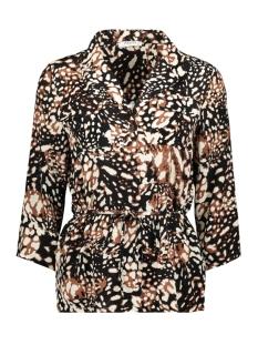 pcisolde 3/4 shirt 17099512 pieces blouse black/leo dot