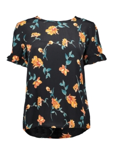 Pieces T-shirt PCJILLY SS TOP IF 17101436 Black/FLOWERS MA