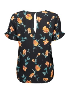 pcjilly ss top if 17101436 pieces t-shirt black/flowers ma