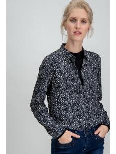 blouse met panterprint i90030 garcia blouse 60 black