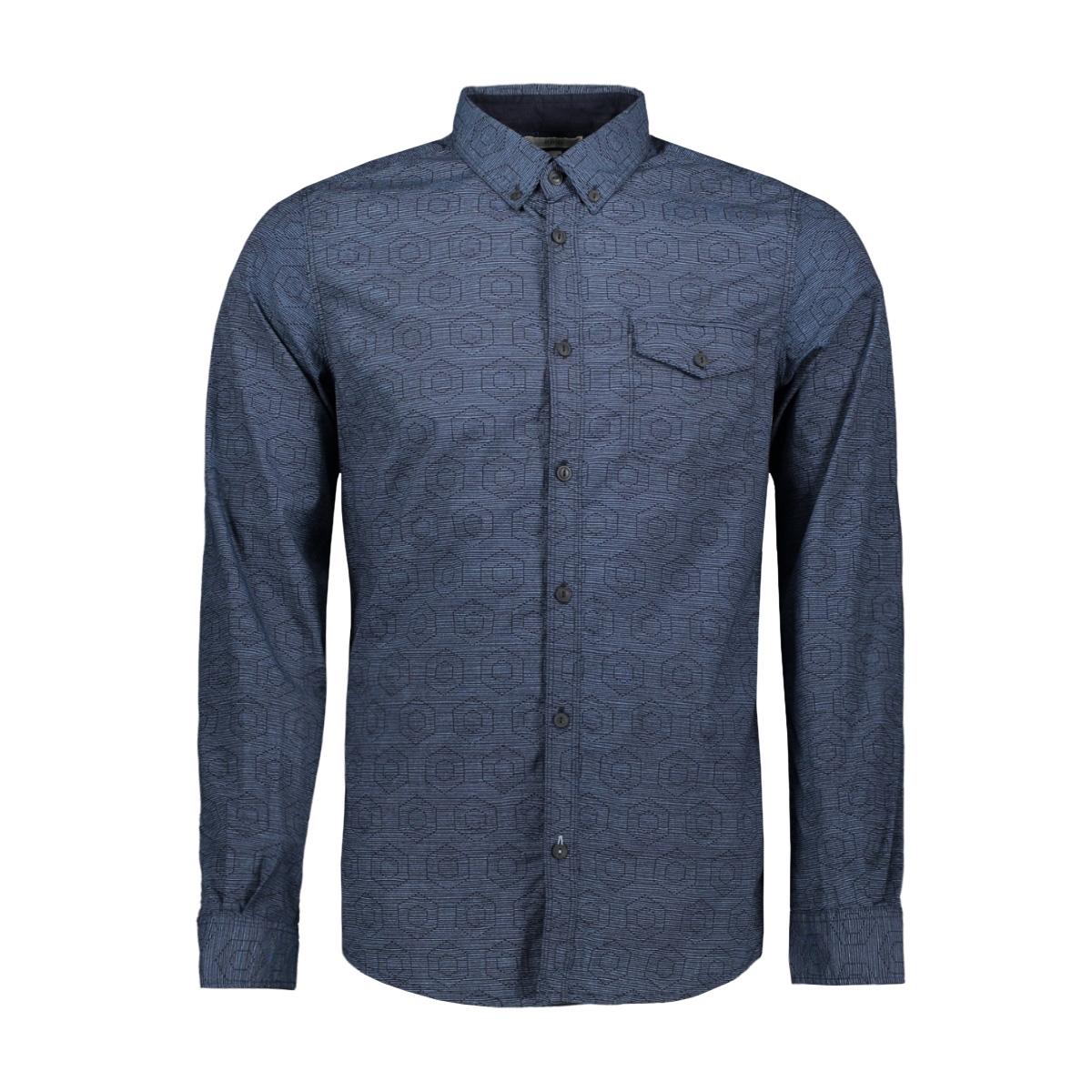 overhemd met all over print 1013177xx10 tom tailor overhemd 19147