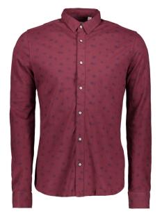 onscuton ls knitted melange aop shi 22013847 only & sons overhemd zinfandel