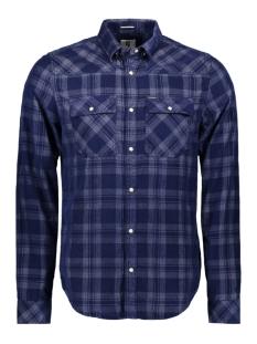 geruit overhemd i91025 garcia overhemd 1050 indigo