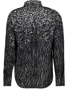 vmnicky l/s  shirt aop 10226675 vero moda blouse black/leo/zebra