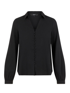 vmgrace ls v-neck shirt 10222536 vero moda blouse black