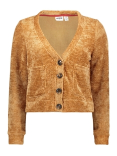 nmkrista l/s cropped cardigan 27010047 noisy may vest brown sugar