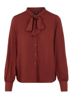 Vero Moda Blouse VMAMELIA LS BOW TIE SHIRT GA 10222045 Madder Brown