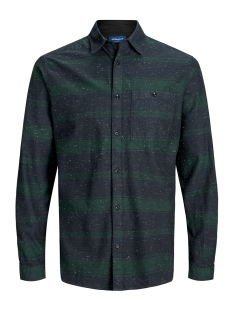 Jack & Jones Overhemd JORBRANDON SHIRT LS ORG 12155531 Sea Moss/Slim/Stripe