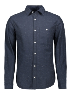Jack & Jones Overhemd JORBRANDON SHIRT LS ORG 12155531 Navy Blazer/Slim/Solid