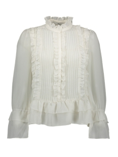 Only Blouse ONLVICTORIA L/S FRILL DNM SHIRT 15191930 Cloud Dancer