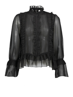 Only Blouse ONLVICTORIA L/S FRILL DNM SHIRT 15191930 Black