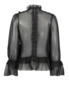 onlvictoria l/s frill dnm shirt 15191930 only blouse black