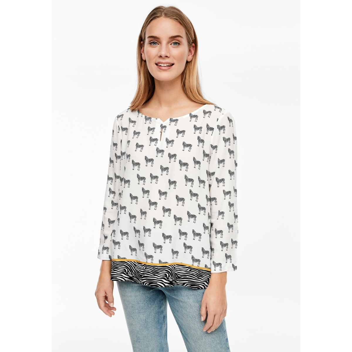 viscose blouse met all over print 21909192964 s.oliver blouse 99d1