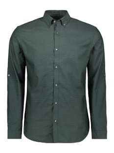 Jack & Jones Overhemd JPRVITO DOBBY SHIRT L/S 12162327 Darkest Spruce/SLIM FIT