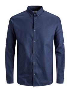 Jack & Jones Overhemd JPRVITO DOBBY SHIRT L/S 12162327 Navy Blazer/SLIM FIT