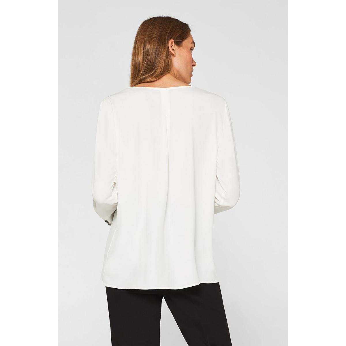 crepe blouse met elegante detail 109eo1f004 esprit collection blouse e110